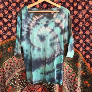 Hand Tie-Dyed Dolman Tee